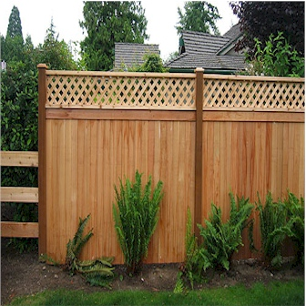 Lattice Top Privacy Fence