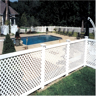 White Vinyl Lattice Fence